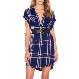 Rails Haley Dress Navy/White/Orchid Size Large